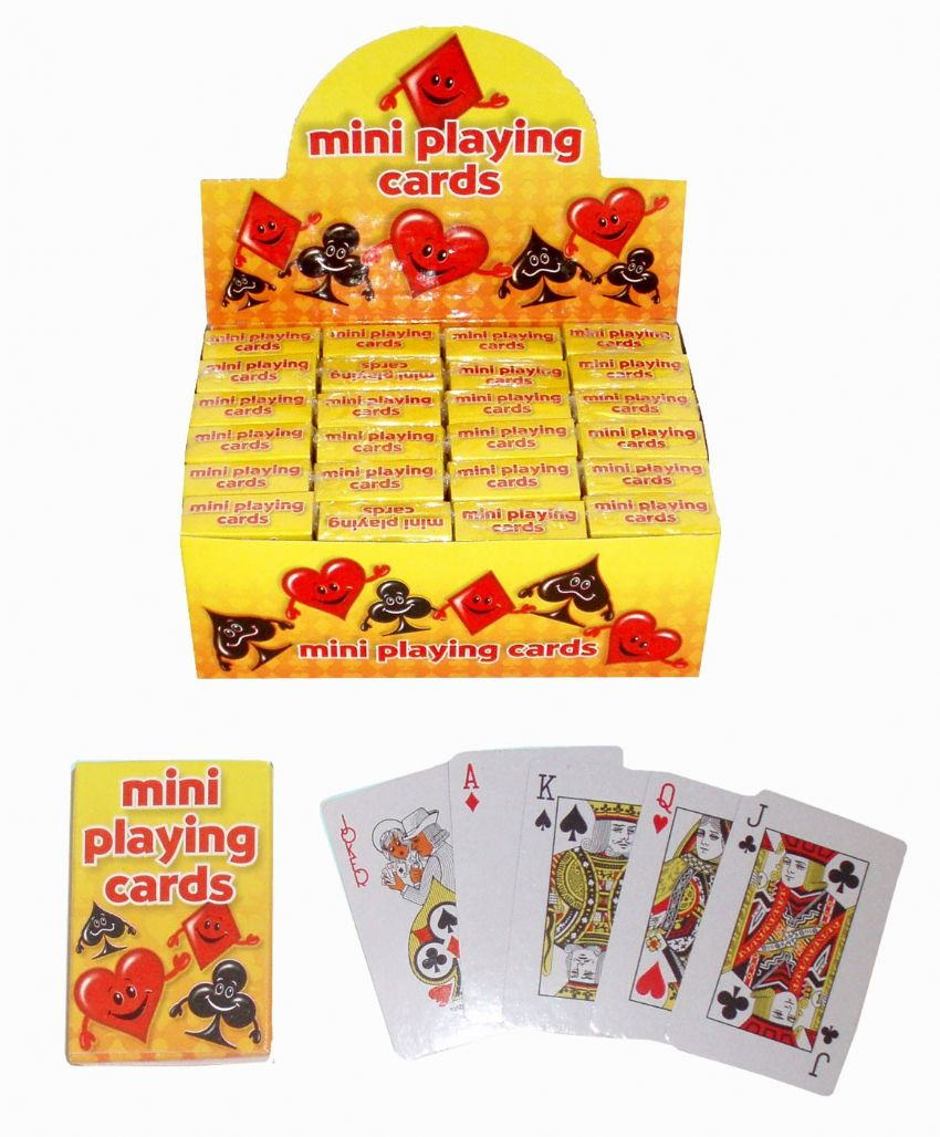 24 x Packs Of Mini Playing Cards - Wholesale Bulk Buy Party Bag Fillers